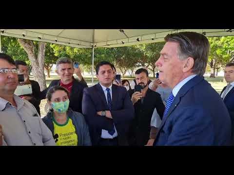 Presidente Bolsonaro fala em manifestação como último recado