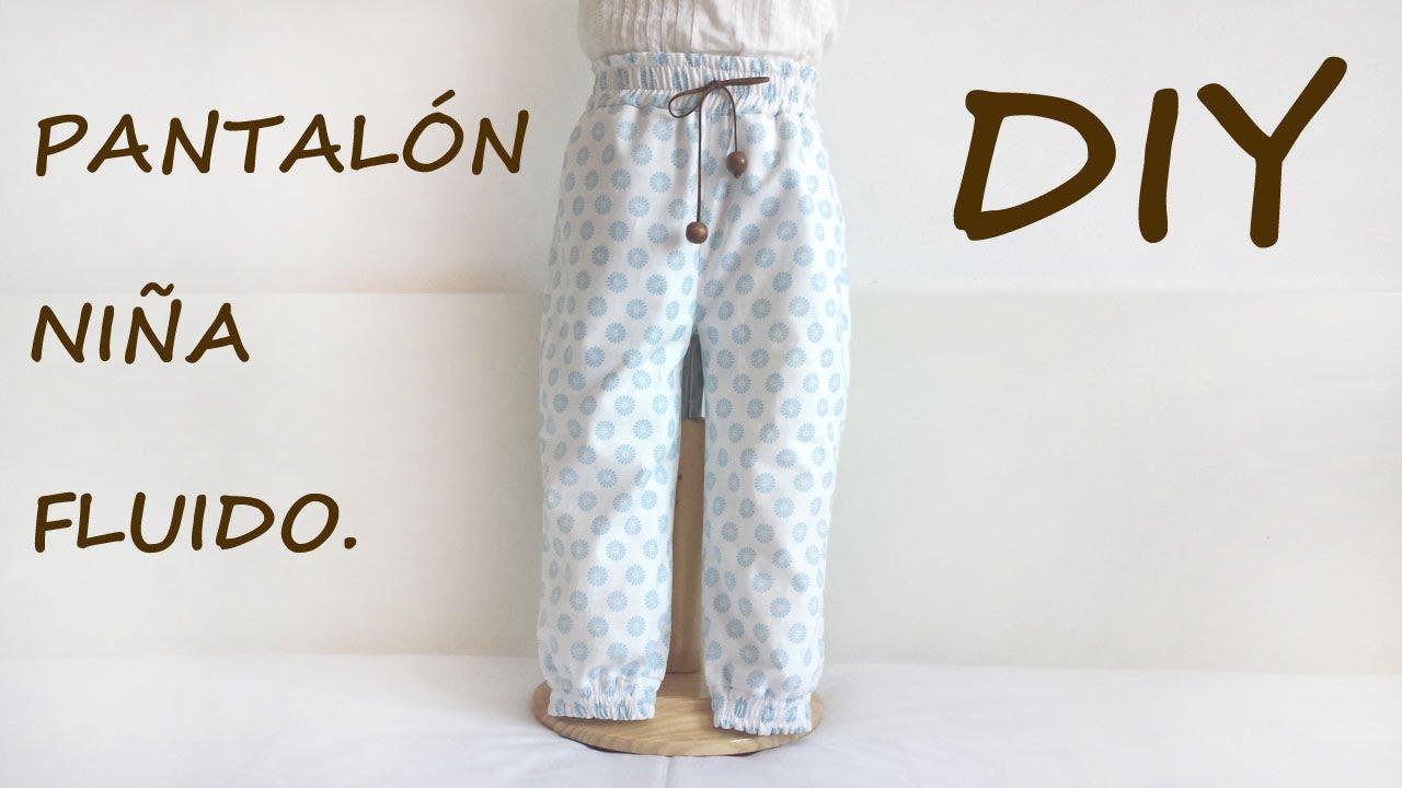 Pantalón niña fluido. Costura ropa de niña. - YouTube