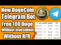 Free 100 DogeCoin||Unlimited Income ||Without RfR and Without Investment || DogeClick Bot