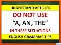"Use Of Articles ""A, An, The"" 