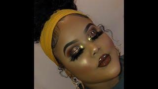 Easy Brown Glitter Makeup Tutorial