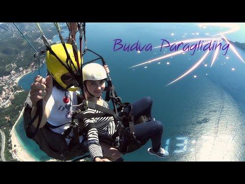 Montenegro Budva paragliding tandem flight