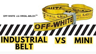 Off White Industrial Belt Unboxing, Details, History, and Comparison Off White Mini Industrial Belt