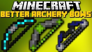Minecraft: BETTER BOWS MOD (Ender Bows, Flaming Bows, Gold Bows) Mod Showcase