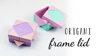 Origami Photo Frame Lid Tutorial ♥︎ Masu Box Lid ♥︎ DIY ♥︎