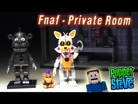 Five Nights at Freddy's FnaF PRIVATE ROOM Wave 4 McFarlane Toys Lolbit Yenndo Playset Unboxing