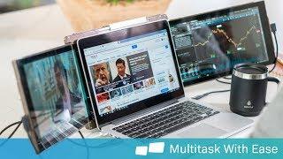 Trio   Portable Dual & Triple Screen Laptop Monitor