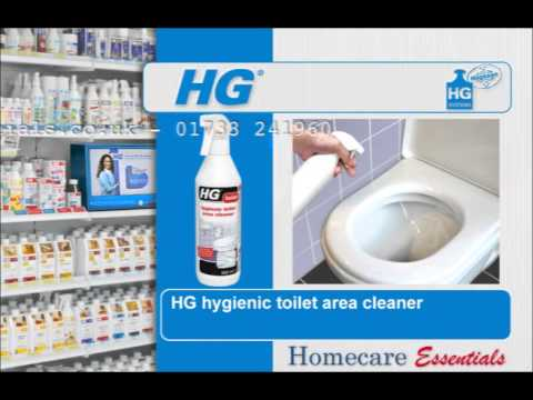 HG Hygienic Toilet Area Cleaner - How to Clean Toilet Bowls, Seats and Cisterns Hygienically