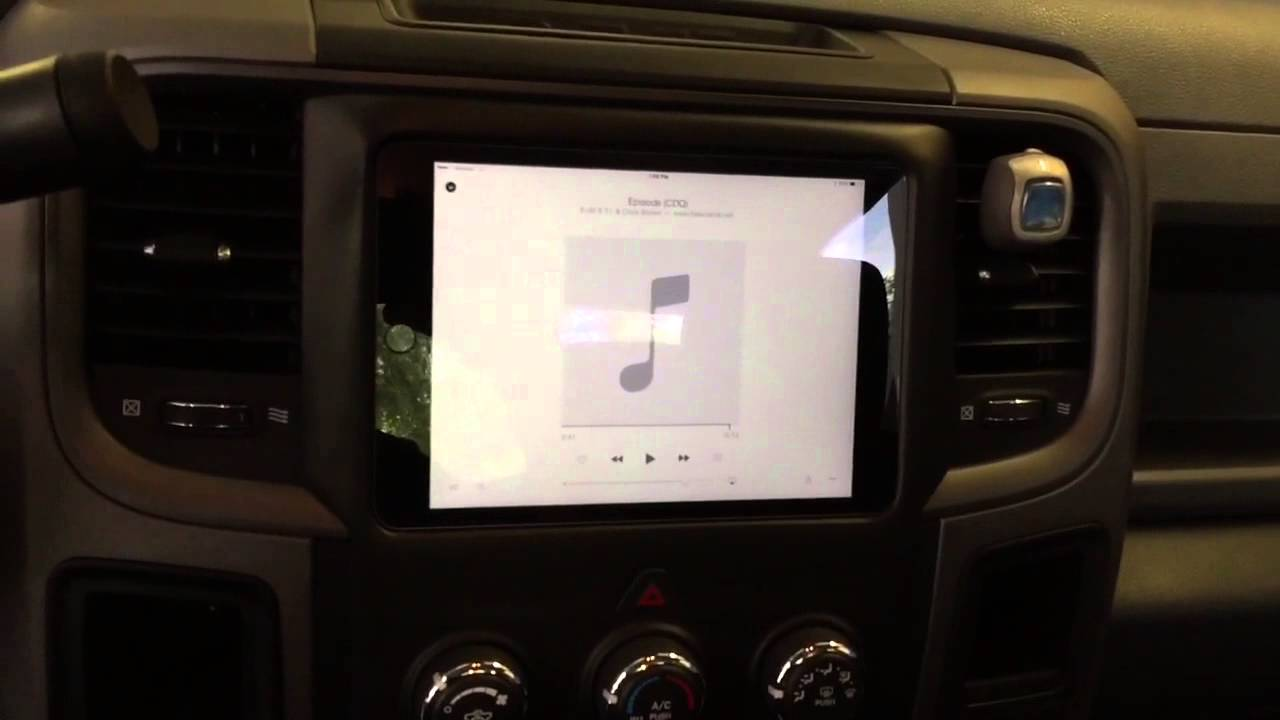 Custom Ipad Mini Dash Install 2013 Ram 1500 And Rearview