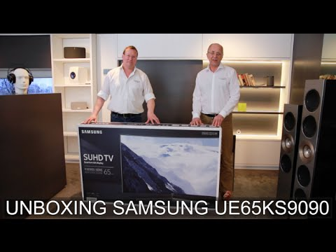samsung ue 65ks9090 curved suhd tv unboxing deutsch thomas electronic online shop ks9090. Black Bedroom Furniture Sets. Home Design Ideas
