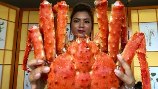 CUA HOÀNG ĐẾ TƯƠI  (first try Live King Crab Toronto-Canada)