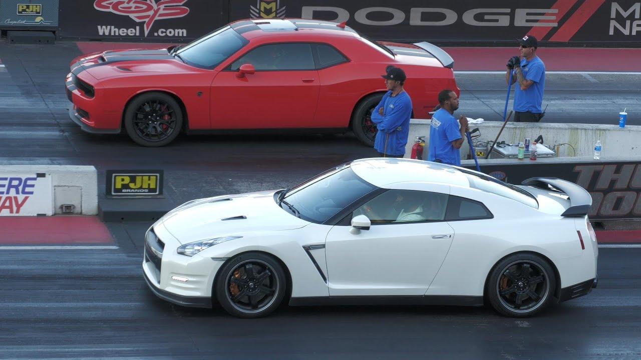 Download Hellcat vs Nissan GT-R -drag racing