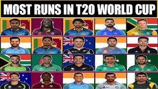 Most Runs in T20 World Cup | Most Runs in T20 World Cup History | Chris Gayle, AB De Villiers, 2020