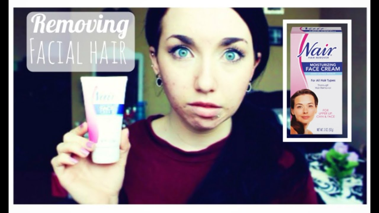 Removing Facial Hair Nair Face Cream Youtube