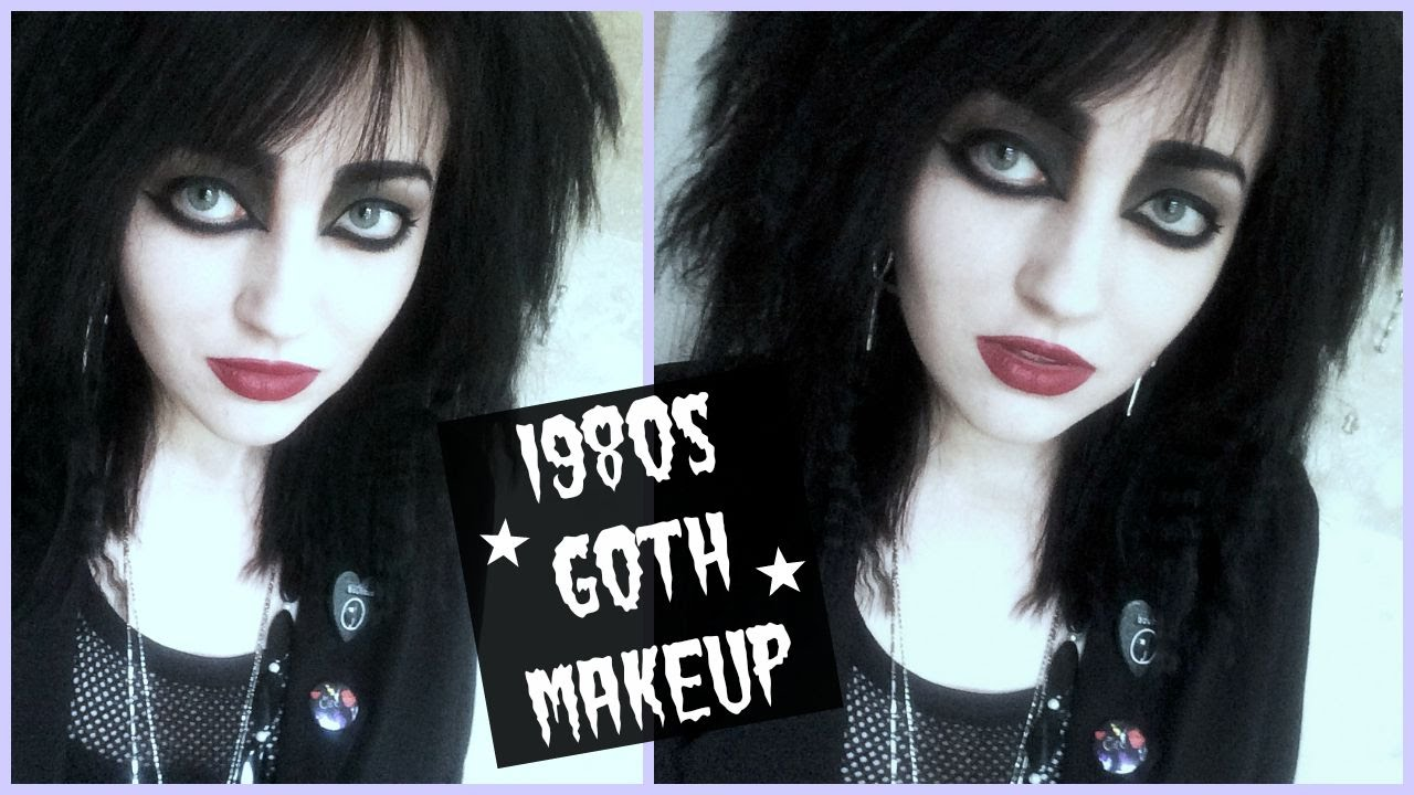 80s goth makeup tutorial