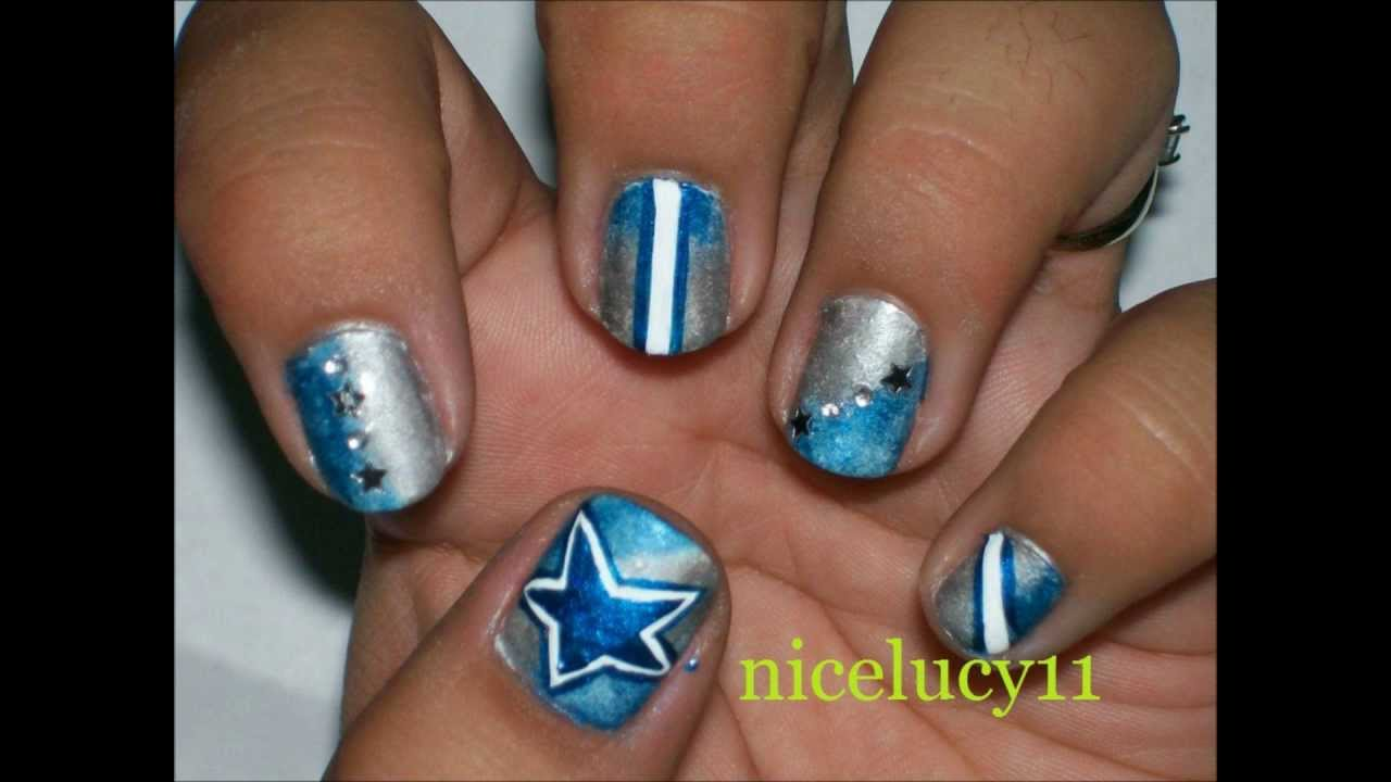 Football Team Nails : COWBOYS :) - YouTube