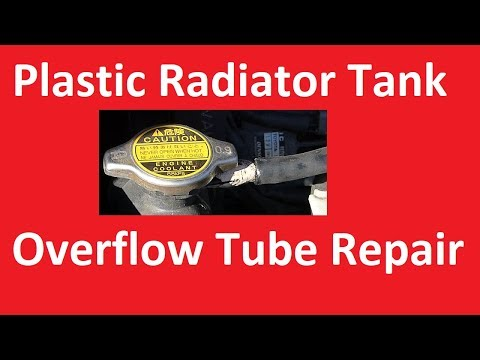 How to repair plastic radiator overflow tank