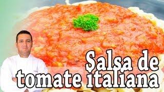 Salsa de tomate italiana - Recetas de cocina