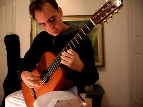 Spanish Romance (Romanza) on classical guitar