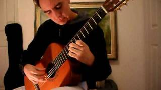 Spanish Romance (Romanza) on classical guitar