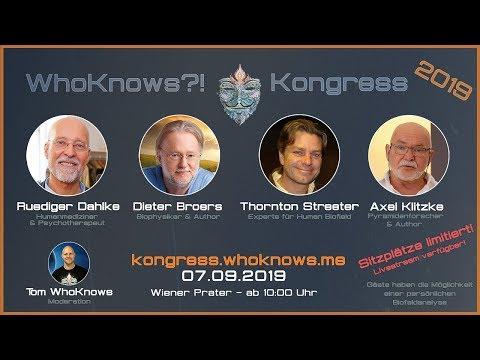 ???? #WhoKnows?! Kongress 2019  ???? Dahlke - Broers - Streeter - Klitzke am 07.09.2019 in Wien ????