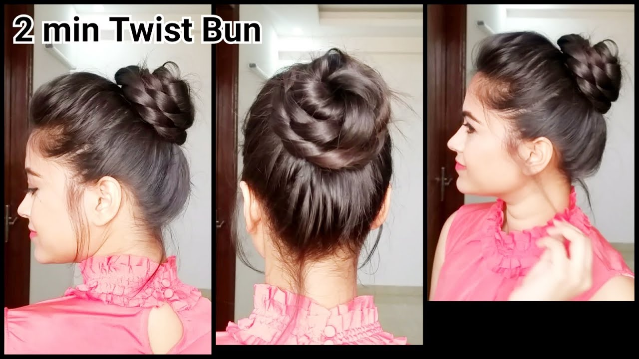 2 min twist buneveryday easy hairstyles for medium to