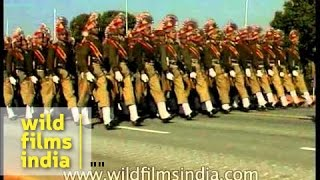 Shiny bayonets glisten in the sun: Indian Army Band march at Republic Day parade