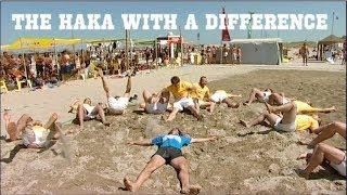 The Haka - Italian beach rugby style