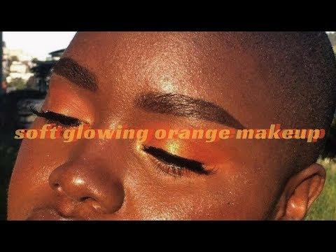 ☀️🍊 golden orange sunset makeup🍊☀️