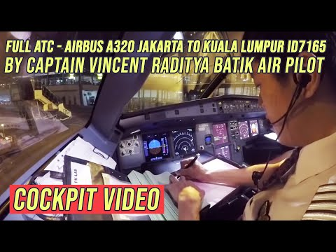 Cockpit Video A320 Landing Kuala Lumpur ID7165 - by Vincent
