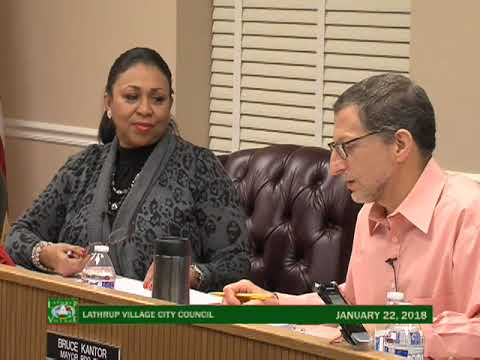 Lathrup Village City Council Meeting - Jan 22, 2018