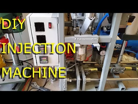 DIY Plastic injection molding machine test