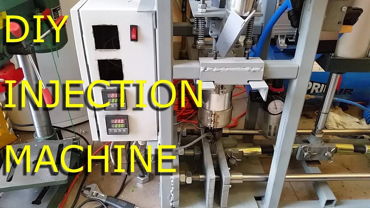 Diy Plastic Injection Molding Machine Test Youtube