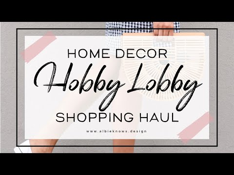 SHOP WITH ME: Hobby Lobby Decor Haul   Toddler Girl Bedroom Makeover, Part 1   Albie Knows 🖤 ✨