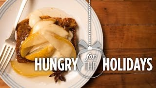 Spice Cake With Poached Pears | Hungry For The Holidays