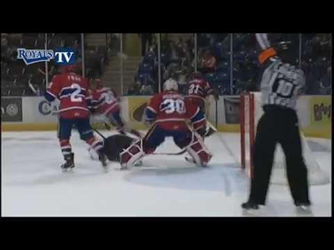 Spokane Chiefs Goalie Brutal Slash on Axel Blomqvist