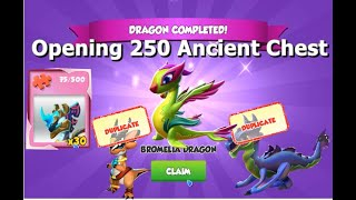 Opening 250 Ancient Chest-Dragon Mania legends | Origin of water Ancient Dragon | DML