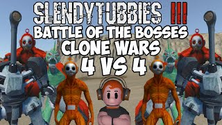 GET IN THERE SPIDER PO AND KICK SOME BUTT | SLENDYTUBBIES 3 BOTB CLONE WARS 4vs4 TEAM TOURNAMENT ST3
