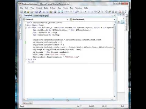Cara Membuat Barcode Vb.net