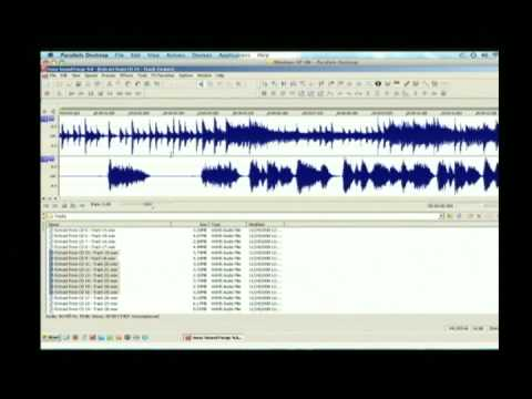 How to convert a split track CD into a music only performance track