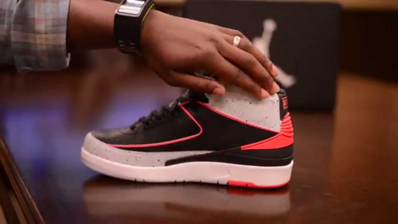 8d75dc0a9ced9a ... low cost air jordan 2 ii infrared 23 unboxing and on feet review hd  abd44 06110