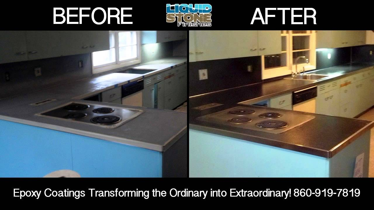 Epoxy Concrete Resurfacing Wilton CT Epoxy Coating Countertops And Bartops    YouTube