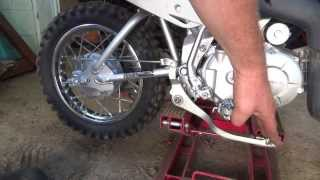 dooin some service to the honda crf 110f dirtbike