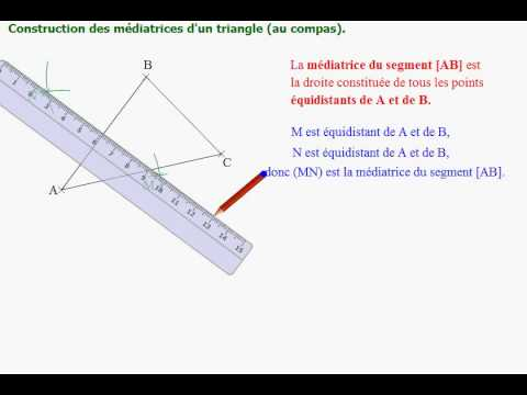 Construction des 3 m diatrices d 39 un triangle youtube for Comment concevoir un plan de construction