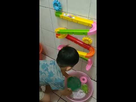 #玩具 #浴室【兒童玩具】 流水球玩具