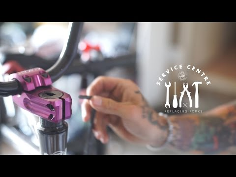 We show you how to replace your forks on your BMX from start to finish. This series runs you through everything you need to know about maintaining your bike.