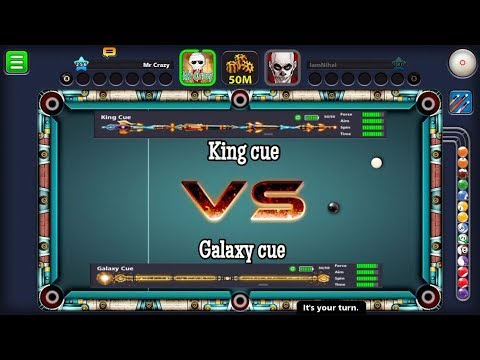 Thumbnail: 8 Ball Pool - King cue VS Galaxy cue - Only Direct Gameplay - [ New Intro ]