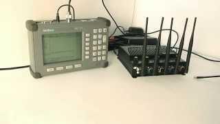 настройка подавителя при помощи анализатора спектра Anritsu MS2711A