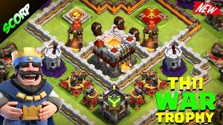 Clash Of Clans - TH11 WAR BASE/TOWN HALL 11 LEGEND LEAGUE TROPHY BASE/ REPLAYS 2017