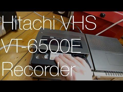 Hitachi VT-6500E Portable VHS Recorder Demo | IMNC